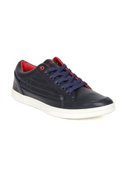 Numero Uno Men Navy Quilted Sneakers