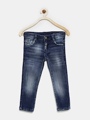 YK Boys Blue Washed Jeans