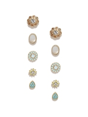 Accessorize Set of 5 Gold-Toned Stud Earrings