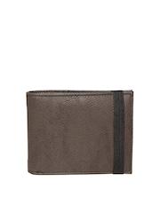 New Look Men Brown Textured Wallet
