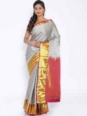 Pothys Grey Vasundhara Silk Traditional Saree