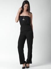 FOREVER 21 Black Off-Shoulder Jumpsuit