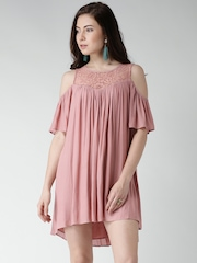 FOREVER 21 Dusty Pink Polyester Shift Dress
