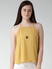 FOREVER 21 Yellow Textured Top