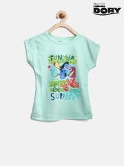 Finding Dory by YK Girls Green Printed Top