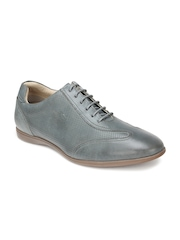 Blackberrys Men Grey Leather Casual Shoes