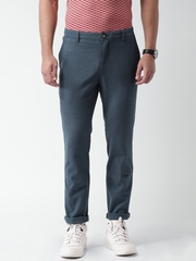 SELA Blue Casual Trousers