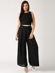 All About You from Deepika Padukone Black Top & Palazzo Trousers