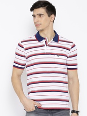 Duke White & Red Striped Polo T-shirt