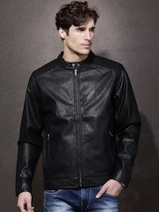 Roadster Black Biker Jacket