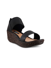 Mochi Women Black Wedges