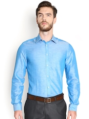 Blackberrys Blue Slim Fit Formal Shirt