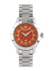 Fastrack Women Orange Dial Watch 6139SM02