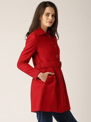 DressBerry Red Trench Coat