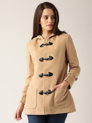 DressBerry Peach-Coloured Hooded Coat
