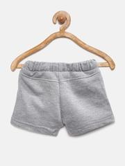 YK Infant Boys Grey Melange Shorts
