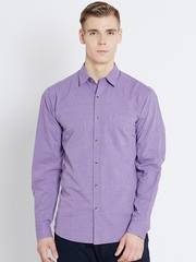 John Players Purple Trim Fit Casual Shirt