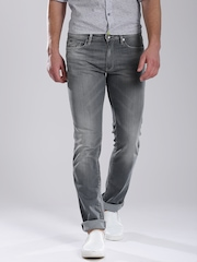 GAS Grey Washed Morris Tight Fit Jeans