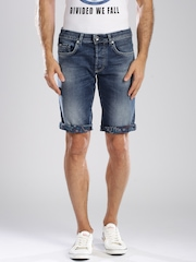 GAS Blue Body Fit Denim Shorts