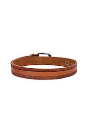 TKWD Leathers Men Brown Genuine Leather Belt