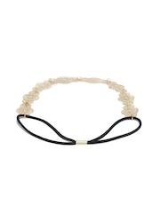 ToniQ Gold-Toned & Black Elasticated Hairband