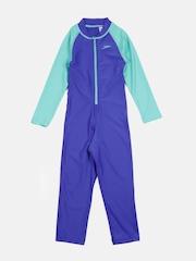 Speedo Girls Blue Colourblocked Bodysuit 804886A746