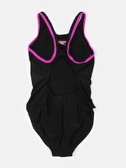 Speedo Girls Black Printed Swimsuit 808747A720