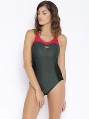 Speedo Grey & Black Swimwear 810393A609