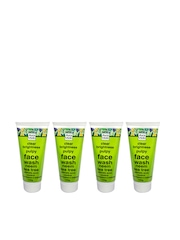 Auravedic Unisex Set of 4 Clear Brightness Pulpy Face Wash