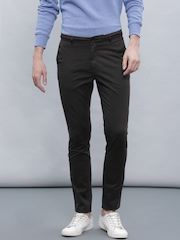 ether Men Black Chino Slim Fit Trousers
