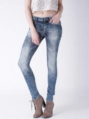 Moda Rapido Blue Acid-Washed Skinny Jeans