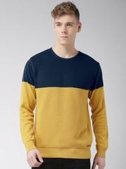 Mast & Harbour Navy & Mustard Yellow Sweater