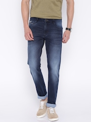 John Players Blue Low-Rise Skinny Fit Jeans