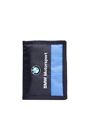 PUMA Unisex Navy Self-Striped BMW Motorsport Wallet