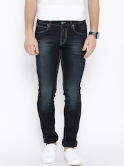 Numero Uno Navy Washed Martin Fit Jeans