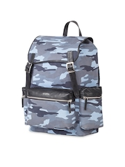 Atorse Unisex Blue Camouflage Print Laptop Backpack