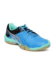 ASICS Women Blue Gel-Domain 3 Indoor Sports Shoes