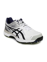 ASICS Men White Gel-220 Not Out Cricket Shoes