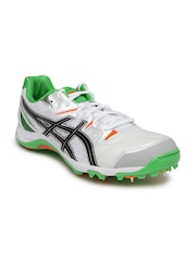 ASICS Men White Gel-Gully 5 Cricket Shoes