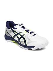 ASICS Men White & Blue Gel-Peake 4 Cricket Shoes