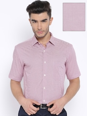 Arrow Pink & White Checked Formal Shirt