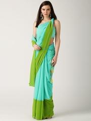 IndusDiva by Nikhil Thampi Sea Green One-Minute Saree