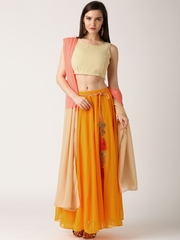 IndusDiva by Nikhil Thampi Beige & Orange Lehenga Choli