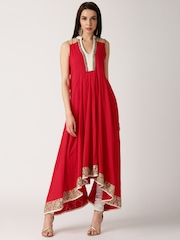 IndusDiva by Priyadarshini Rao Red Anarkali Kurta