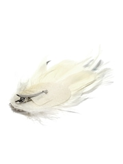 Accessorize Off-White Faux Feather Alligator Hair Clip