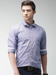 Mast & Harbour Navy Checked Casual Shirt