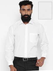 Van Heusen White Custom Fit Formal Shirt