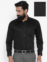 Van Heusen Black Custom Fit Formal Shirt