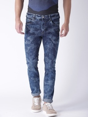 Moda Rapido Blue Skinny Camouflage Print Jeans