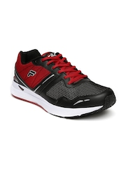 FILA Men Black & Red Taper Speed Running Shoes